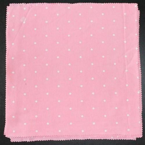 pilkullinen lautasliina vaaleanpunainen