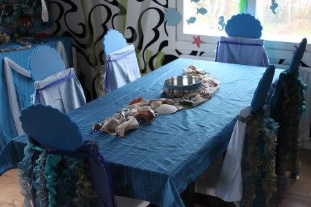 merenneito ja meriaiheinen juhla koristeet