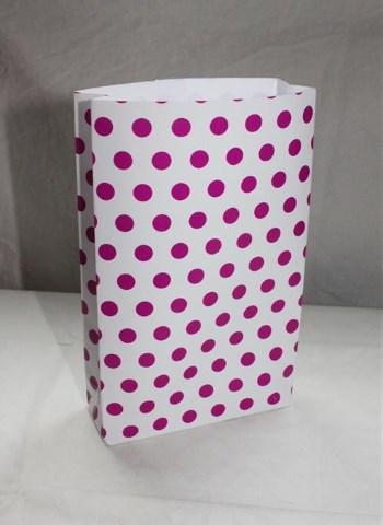pilkkukuvioinen paperipussi käsintehty