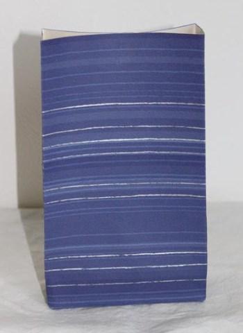 sini hopea raitainen käsintehty paperipussi