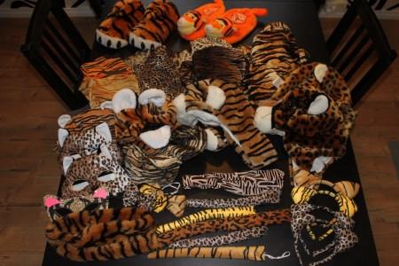 viidakko ja safari teemaan asusteita lapsille